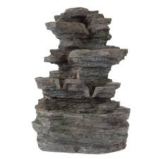 Tabletop Rock Garden Garden Tabletop Led Water With Cascading Rock