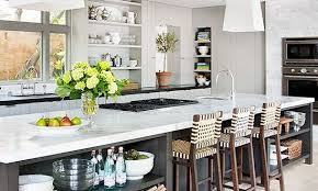 kitchen island with open shelves 15 cool kitchen islands with zones shelterness regarding