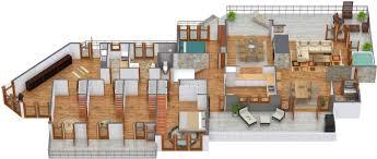 modern house plans ihouse poweredboarding arafen australian hideaway blue sketch 3d floor plan degrees updated with cabinets long kitchen islands