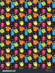 Monster Halloween by Devil Monster Halloween Patterns Endless Texture Stock Vector