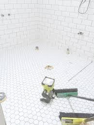 bathroom tile hexagon floor tile bathroom cool home design