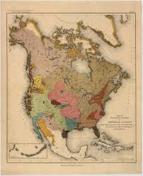 1600 Map Of America by John Wesley Powell U0027s Late 19th Century Map Of