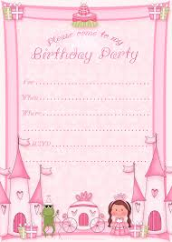 charming birthday party invitation card template free 75 with