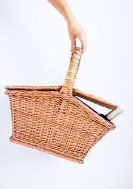 thrifty diy metallic painted picnic basket design improvised