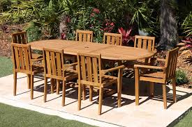 Teak Table And Chairs Sale 95in Oval Table U0026 8 Bay Chairs Teak Set Oceanic Teak Furniture