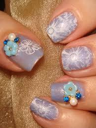 wendy u0027s delights flower rhinestone u0026 pearl nail decoration
