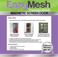 eazymesh polyester mesh magnetic screen door with full length sewn