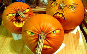 Halloween Pumpkin Decorating Ideas 3 Faces Pumpkin Carving Ideas Photos