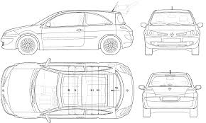 2006 renault megane ii hatchback blueprints free outlines