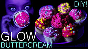 how to make colour changing uv glow in the dark cupcakes youtube