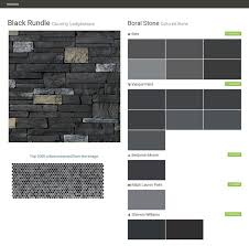 black rundle country ledgestone cultured stone boral stone