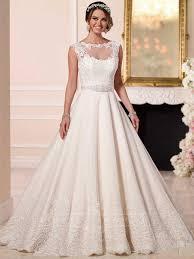 a line wedding dresses with detachalbe illusion lace jacket