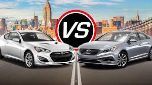 hyundai sonata coupe 2016 hyundai genesis coupe vs sonata eco turbo spec comparison