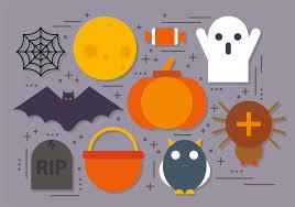 halloween icons free flat vector halloween icons free vectors and clip art ezyvectors