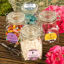 wedding favor jars design your own glass apothecary jar wedding favors