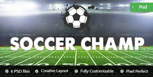 football champ football club psd template by kamleshyadav