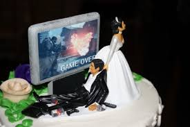 nerdy cake toppers oh sexism you sc gamer wedding cake topper