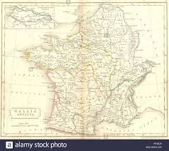 Arles France Map by France Ancient Roman Gaul Gallia Antiqua Hall 1830 Antique Map