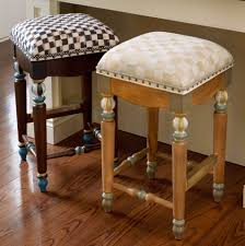 mackenzie childs courtly underpinnings check counter stool