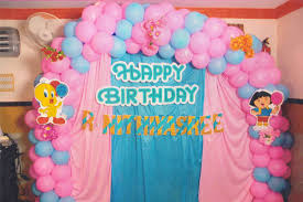 Birthday Decor At Home Balloon Decoration For Birthday In Home Image Inspiration Of