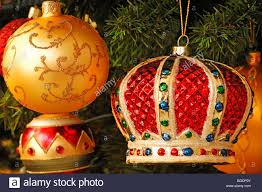 colorful tree ornaments on a tree villa ambiente im