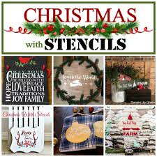 christmas with stencils rustic planters at home with jemma