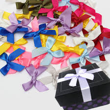 Wedding Gift Decoration 50pcs Silk Ribbon Bows Bow Bowknots Ribbon Party Gift Decoration