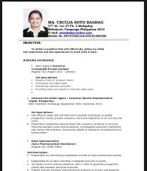 exle of curriculum vitae in malaysia fabulous exle of resume for fresh graduate with sle resume for