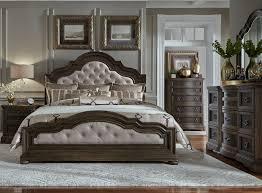 Beige Upholstered Bed Valley Springs Brown And Beige Upholstered Bedroom Set From