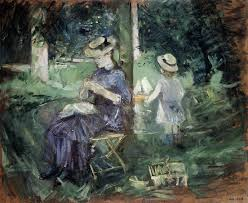 the monet family in their garden at argenteuil woman and child in a garden 1883 1884 berthe morisot