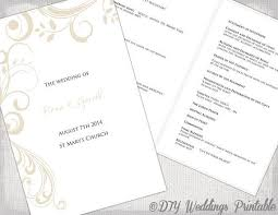 Create Your Own Wedding Program Best 25 Wedding Ceremony Booklet Templates Ideas On Pinterest