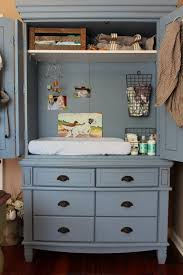 Blue Changing Table Repurposed Armoire Into Peek A Boo Changing Table A Lovely Place