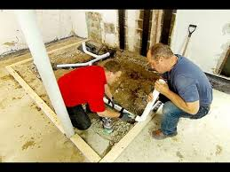 How Do You Install A Bathtub How To Install A Basement Bathroom Youtube