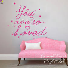 popular baby wall quotes decals buy cheap baby wall quotes decals you are so loved quote wall sticker baby nursery kids room cartoon star heart inspiration quote