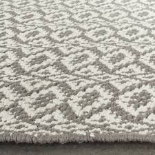 Woven Rugs Cotton Safavieh Hand Woven Montauk Ivory Grey Cotton Rug 8 U0027 X 10
