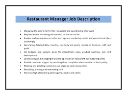 Restaurant Manager Resume Template Sle Of Restaurant Manager Resume Sle Resume For