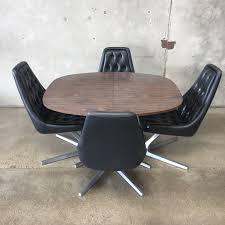 Chromcraft Dining Room Furniture Vintage Chromcraft Sculpta Star Trek Swivel Chairs U0026 Table