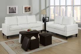 bob kona 5 piece livingroom set in cream colored leather