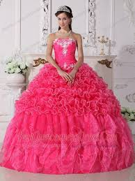 quinceanera pink dresses pink gown strapless floor length organza embroidery with