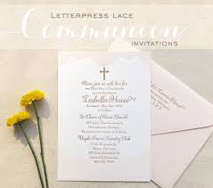 communion invitations letterpress lace communion invitations dinglewood design press
