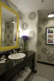 yellow wallpaper border ideas bathroom transitional withalmarasma com