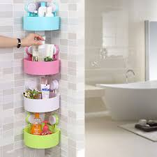 Bathroom Suction Shelves Bathroom Kitchen Suction Cup Corner Storage Rack Organizer Shower