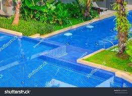 beautiful swimming pool hotel pool resort stock photo 622982441