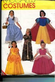 Halloween Costume Patterns Mccalls 2850 Costume Pattern Girls Storybook Princess Dorothy