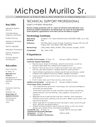Technical Support Resume Template It Technical Support Resume