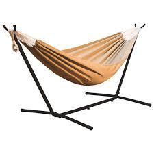sunbrella double hammock with stand brown hammocks u0026 hanging
