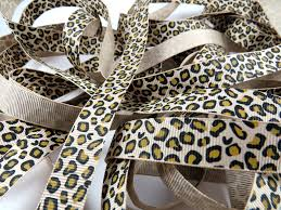 leopard ribbon leopard ribbon bow grograin colour print meaning wired wholesale