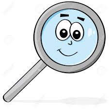 happy glass illustration of a magnifying glass with a happy