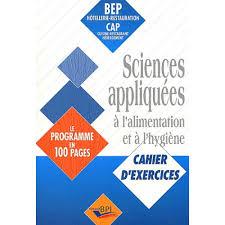 livre cap cuisine sciences appliquées à l alimentation et à l hygiène bep hôtellerie