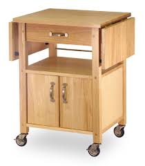 Small Kitchen Islands On Wheels by Amazon Com Winsome Wood Drop Leaf Kitchen Cart Bar U0026 Serving Carts